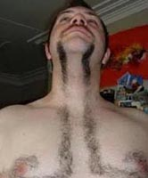 Structured facial hair