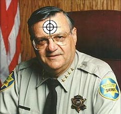 Joe Arpaio has fun with temporary tattoos