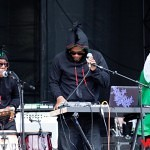 Shabazz Palaces play the Xbox 360 mainstage at the 2010 Sasquatch festival.