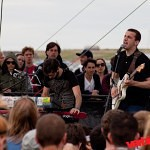 Cymbals Eat Guitars play the Honda Bigfoot stage at the 2010 Sasquatch festival.