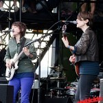 Tegan and Sara play the Xbox 360 mainstage at the 2010 Sasquatch festival.