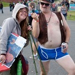 Concert goers at the 2010 Sasquatch festival.