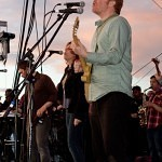The New Pornographers play the Honda Bigfoot stage at the 2010 Sasquatch festival.