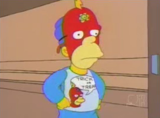 Check it out Lisa! I'm Radioactive Man!