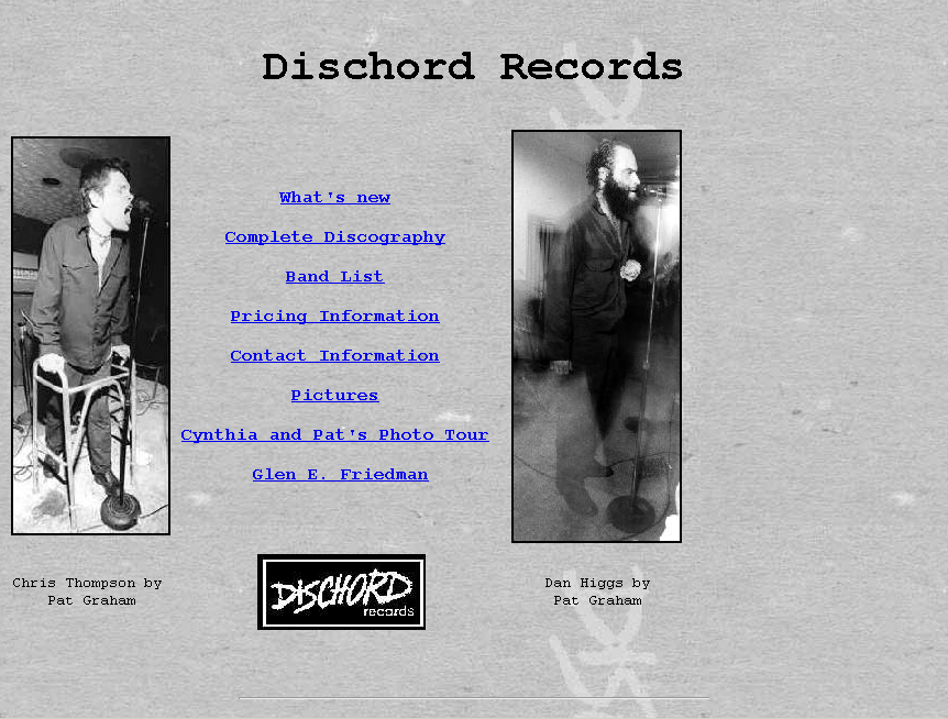 Dischord Records, December 1996