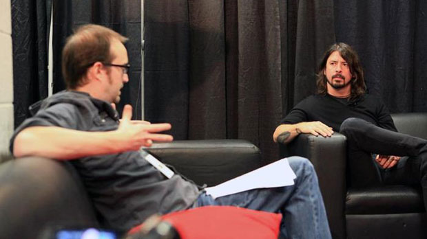 Dave Grohl interviewed for the documentary