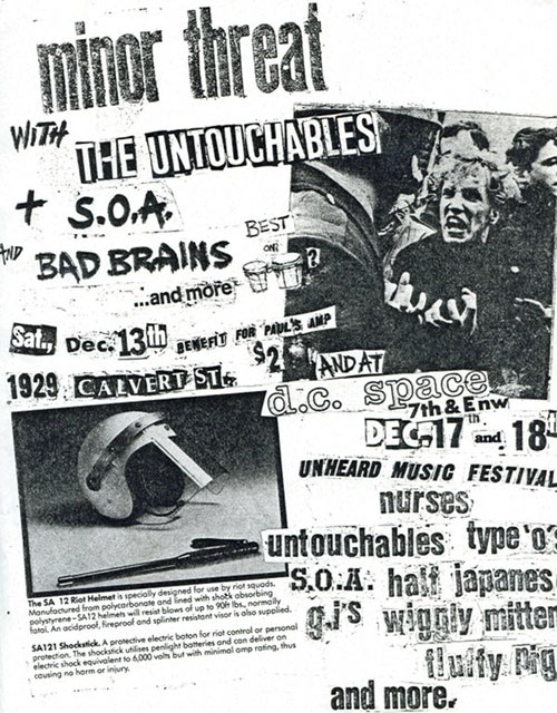Bad Brains, Minor Threat, SOA, The Untouchables