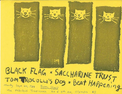 Black Flag, Beat Happening, Saccharine Trust
