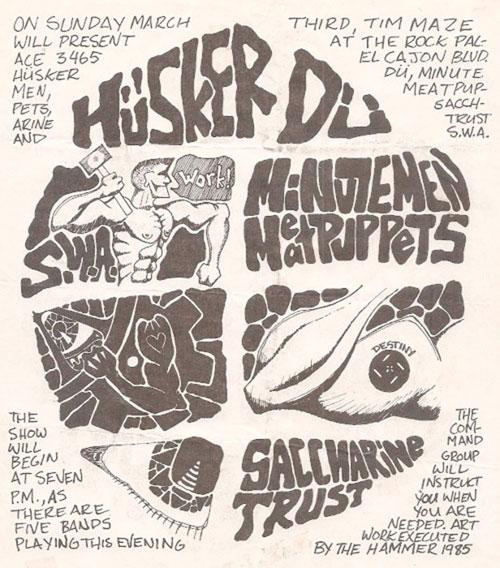 Husker Du, Minutemen, Saccharine Trust, Meat Puppets