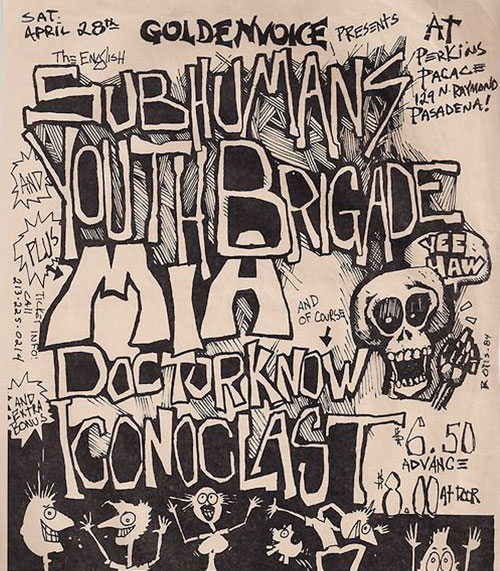 Subhumans, Youth Brigade, Dr. Know