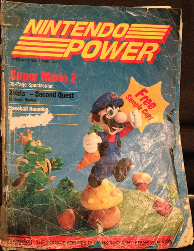 "First issue of ""Nintendo Power"" in ""gently used"" condition"