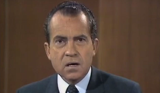 """Sock it to me"": Richard Nixon on ""Laugh-In"""