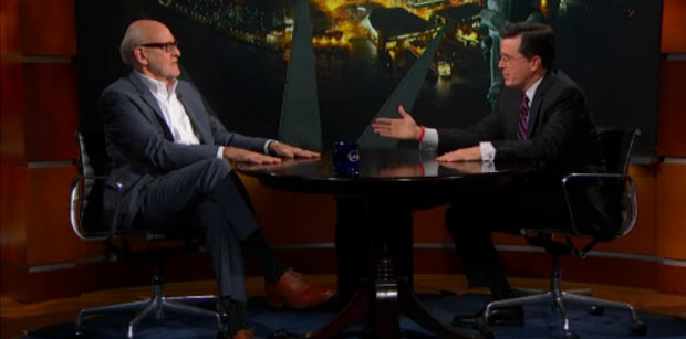 Frank Oz and Stephen Colbert