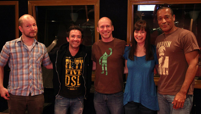 Fran Krause (showrunner); David Faustino (Jack Krak); creator James Kochalka (Grotus); Veronica Belmont (Grotessa); and Phil Morris (Ultra Richard)