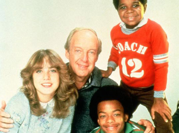 "Bain, Todd Bridges, and Gary Coleman on the set of ""Diff'rent Strokes"