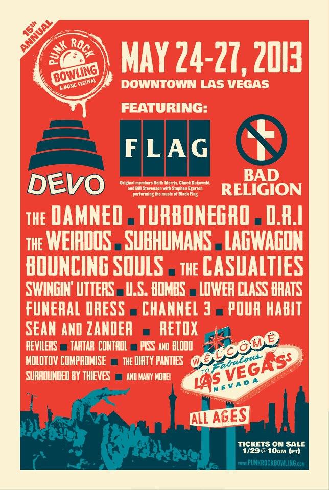 Punk Rock Bowling 2013 lineup