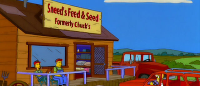 "Sneed's Feed and Seed. Formerly ""Chuck's"""
