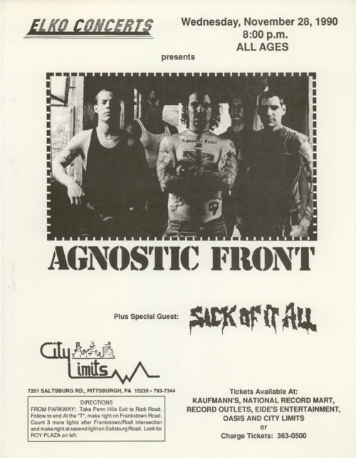 Agnostic Front, Sick of It All, 1990