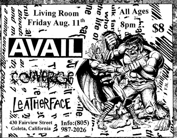 Avail, Converge, Leatherface, late '90s