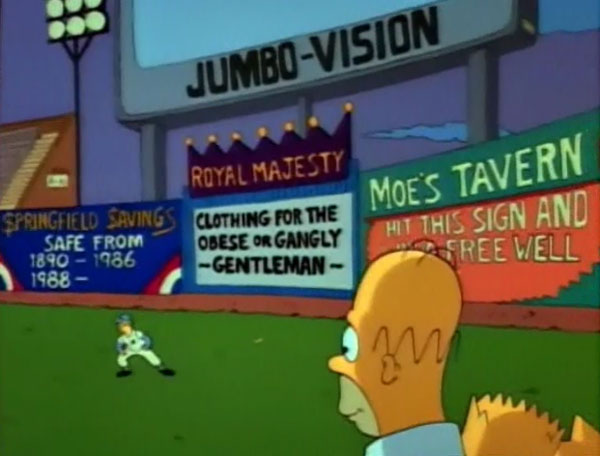 "Baseball stadium (From ""Dancin' Homer,"" season 2)"