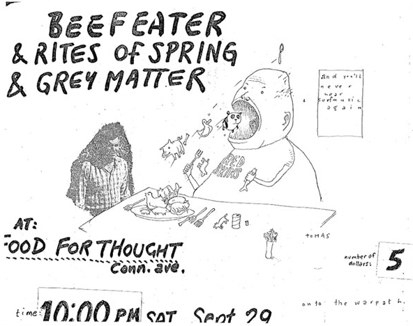 Beefeater, Grey Matter, Rites of Spring, 1985