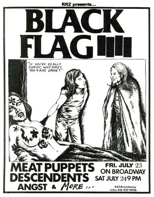 Black Flag, Descendents, Meat Puppets, 1982