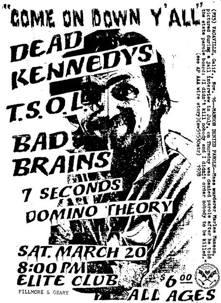 Dead Kennedys, TSOL, Bad Brains, 7 Seconds, 1982