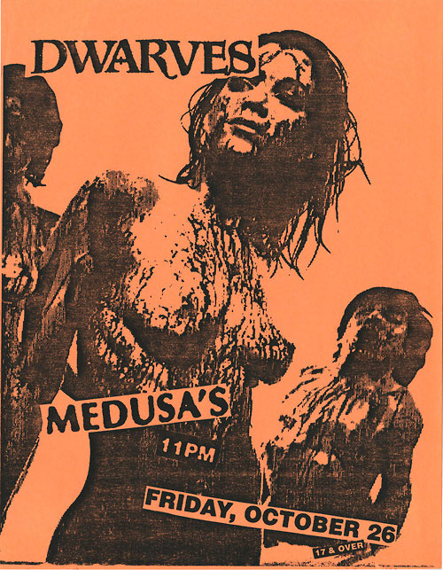 12 punk show flyers from the 1990s