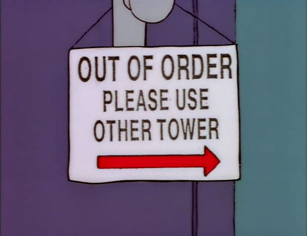 100 funny signs from around springfield on the simpsons for Fuera de servicio en ingles
