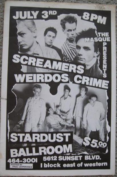 Screamers, Weirdos, 1977