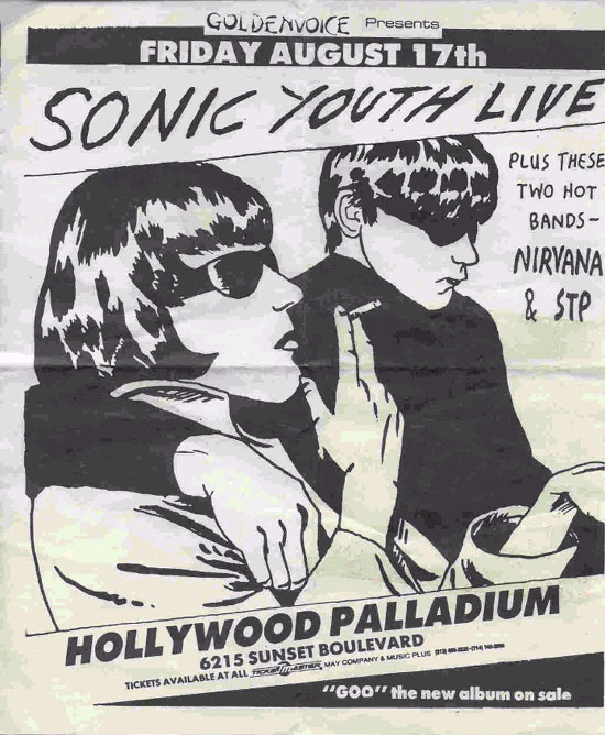 Sonic Youth, Nirvana, STP 1990