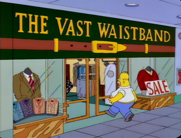 "The Vast Waistband (From ""King-Size Homer,"" season 7)"