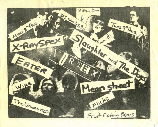 X-Ray Spex, Wire, Slaughter and the Dogs, and more, 1977