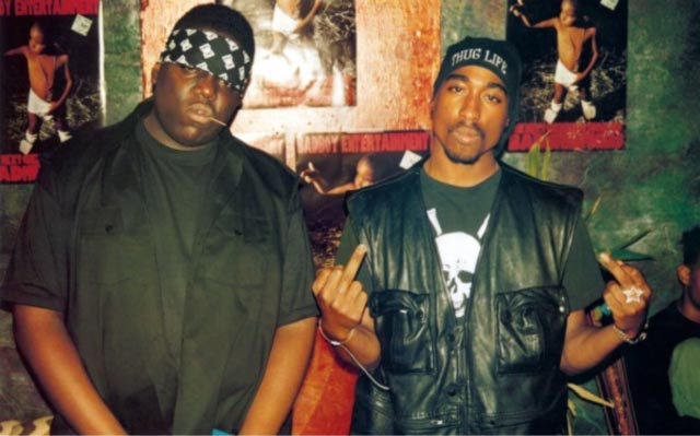 The Notorious BIG and 2Pac