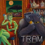 TRAM - Lingua Franca: Adrian and Ikey were my main friends in the Mars Volta Group. Adrian called me one day and asked me to do a cover for his new band, TRAM. These guys totally blow me away, together and separately. This one was really fun to paint! Especially the alien girl's body language.