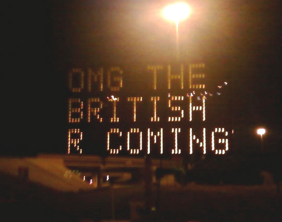 OMG the British Are Coming
