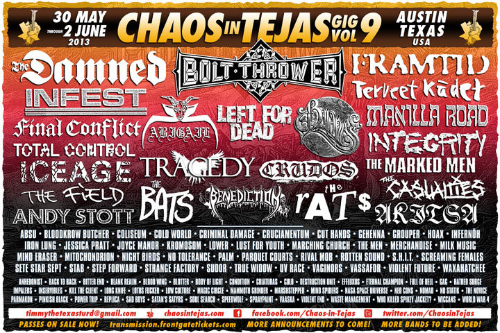 Chaos In Tejas 2013 lineup