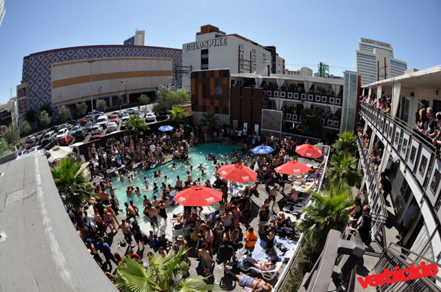 Punk Rock Bowling pool party at the Gold Spike. Photo by Shahab Zargari