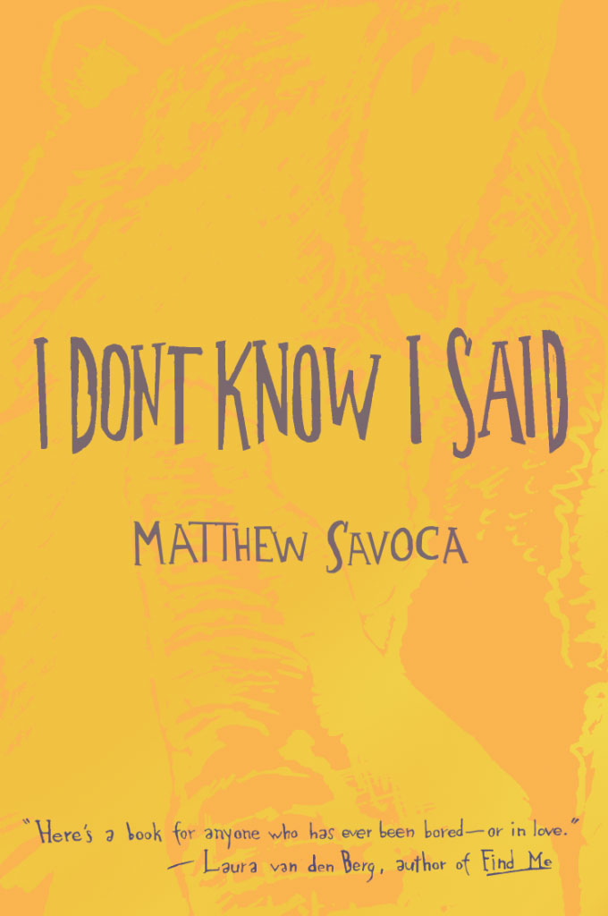 """I Don't Know I Said"" by Matthew Savoca book cover"
