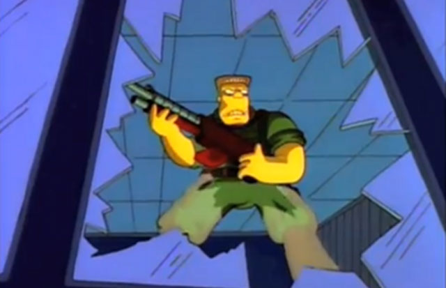 "The ""McBain"" movie from ""The Simpsons"""