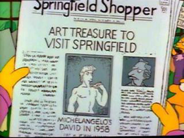 "ART TREASURE TO VISIT SPRINGFIELD, from ""Itchy & Scratchy & Marge,"" season 2"