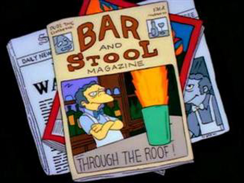"""THROUGH THE ROOF!, from """"Flaming Moe's,"""" season 3"""