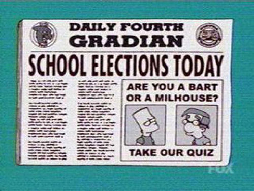 "SCHOOL ELECTIONS TODAY, from ""The President Wore Pearls,"" season 15"