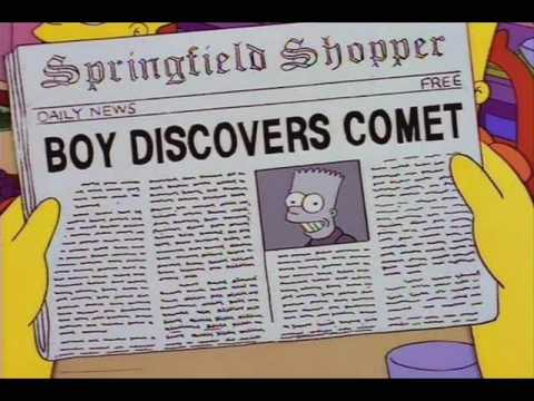"BOY DISCOVERS COMET, from ""Bart's Comet,"" season 6"