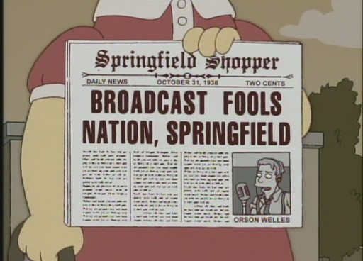 "BROADCAST FOOLS NATION, SPRINGFIELD, from ""Treehouse of Horror XVII,"" season 18"