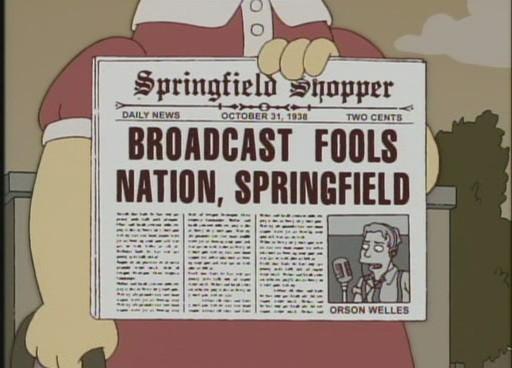 "BROADCAST FOOLS NATION, SPRINGFIELD, from ""Treehouse of Horror XVII,"" season 18"