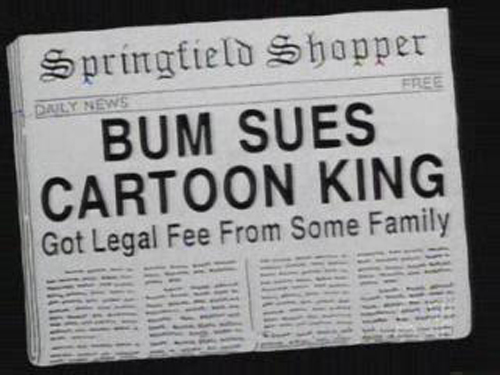 "BUM SUES CARTOON KING, from ""The Day the Violence Died,"" season 7"