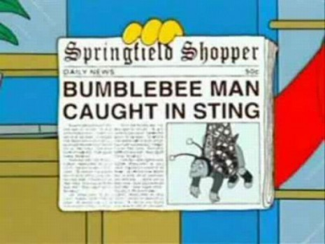 "BUMBLEBEE MAN CAUGHT IN STING, from ""Three Gays of the Condo,"" season 14"