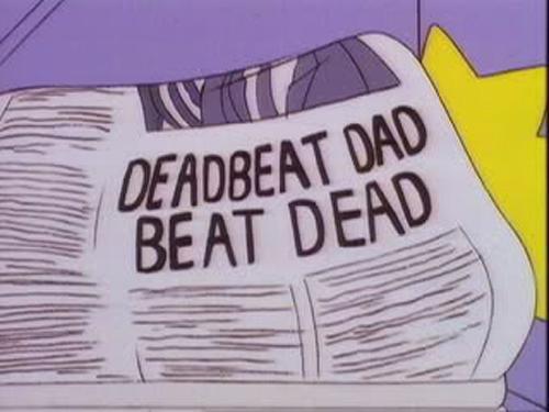 """DEADBEAT DAD BEAT DEAD, From """"22 Short Films About Springfield,"""" season 7"""