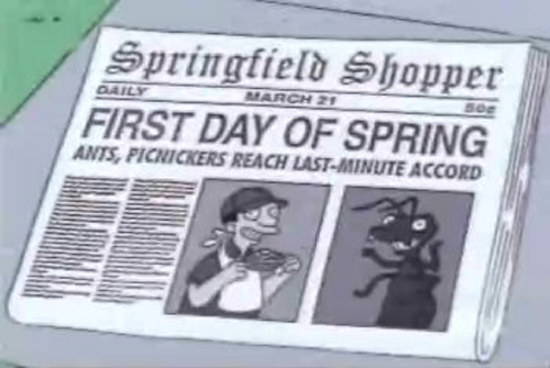 """FIRST DAY OF SPRING, from """"Trilogy of Error,"""" season 12"""